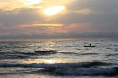 Sunset on the beach at Arena Blanca, Bioko Island, Equatorial Guinea