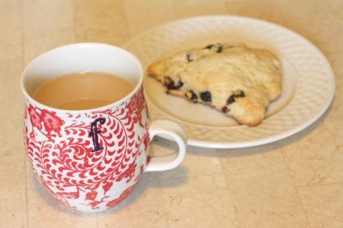 A cuppa and a scone