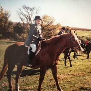 A childhood foxhunt on my first horse, Nick