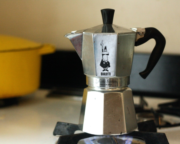 Bialetti Moka Express on Stove