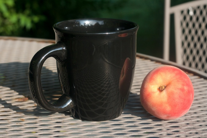 Tea and a Peach