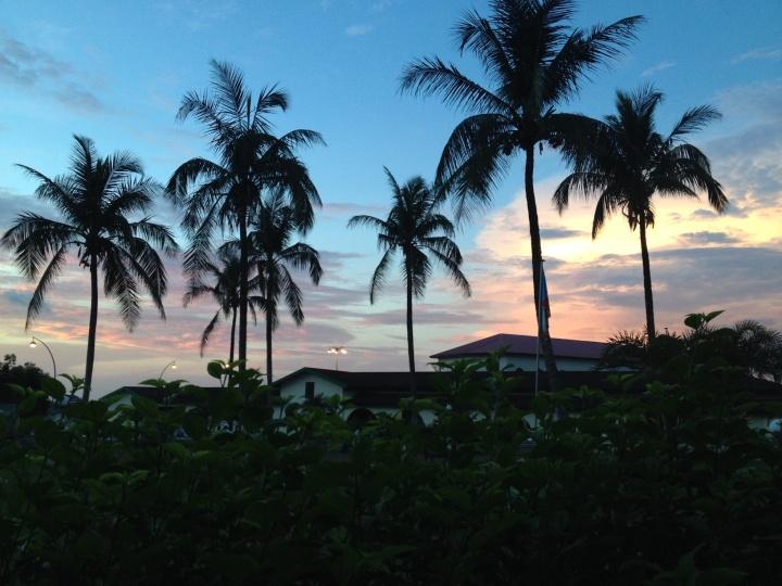 UNGE sunset